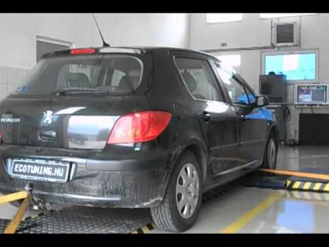 peugeot 307 2.0hdi 90le chiptuning - youtube