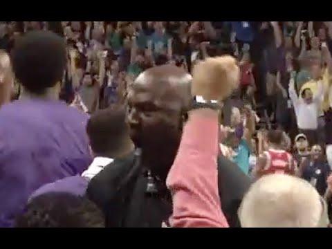 Michael Jordan Goes Nuts After Kemba Walker Forces Overtime