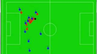 Evolution of a self-organizing robot soccer team
