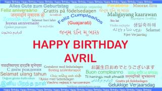 Avril   Languages Idiomas - Happy Birthday