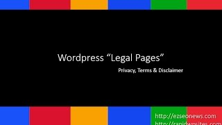 Wordpress Plugin for Terms, Privacy and Disclaimer
