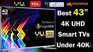 Best 43 inch 4K Ultra HD Smart TV Under Rs 40000  📺 |  Home Entertainment & Gaming