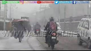 Watch: MeT predicts heavy snowfall, traffic police issues advisory in Kashmir Valley