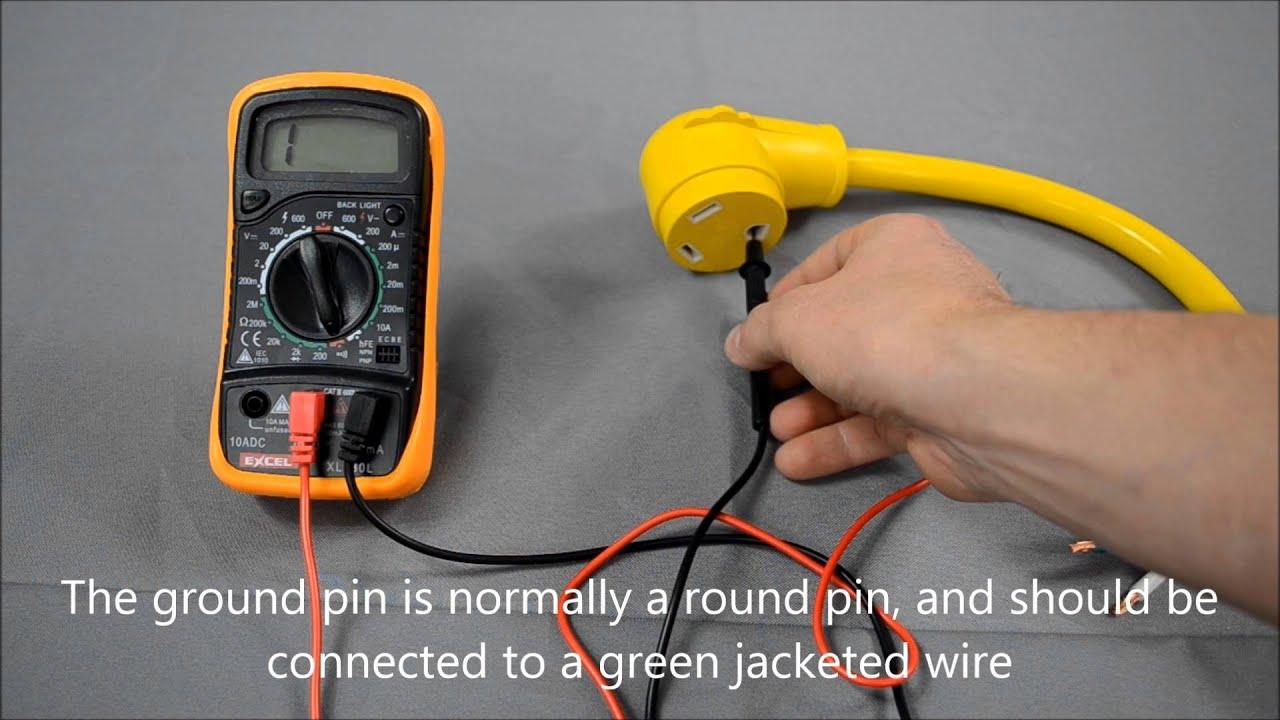 Checking RV / Generator Power Cord Continuity - YouTube