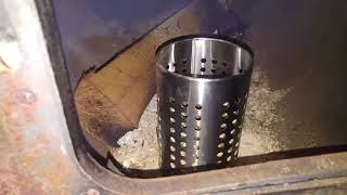 How to burn Wood Pellets in a regular wood stove