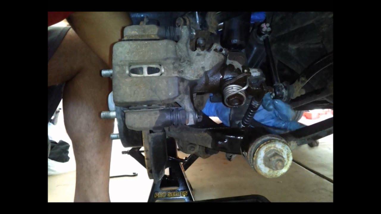 2007 Honda Accord V6 Rear Brake Caliper Removal And
