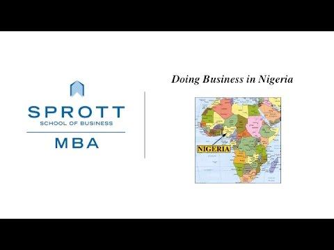 Doing Business in Nigeria, SPROTT MBA, Carleton University