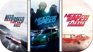 NFS Rivals (2013) Lauch trailer vs NFS 2015  vs Need For Speed Payback Official Launch Trailer 2017