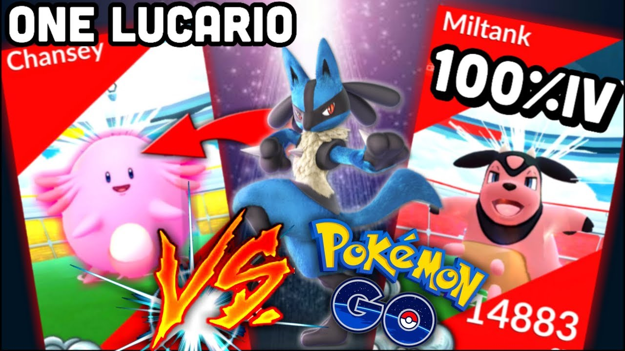 Only 1 Lucario Vs Chansey Raid No Boost In Pokemon Go Amazing 100