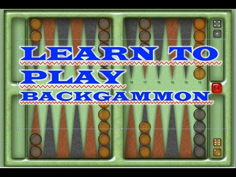How To Play BACKGAMMON!   Best Opening Moves!