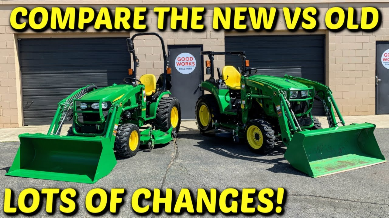 2032r & 2038r! John Deere 2 Series: Compare Old vs New Style John Deere, SO  MANY CHANGES!