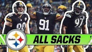 All 52 Sacks in 2018 ft. Watt, Heyward, Hargrave & More | Pittsburgh Steelers