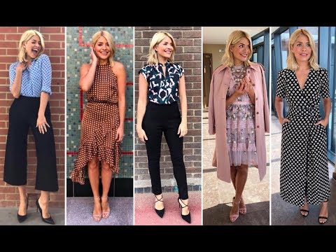 41c1cd39a91e Holly Willoughby This Morning Outfits May Week 3 2018 - YouTube
