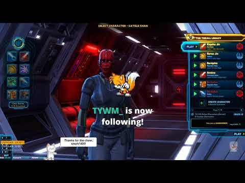 Star Wars The Old Republic [PC] Storyline questing on Sith Marauder. ( ¬‿¬)
