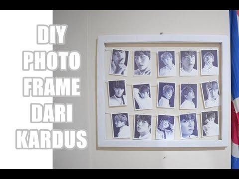 How To Make Photo Frame From Cardboard / DIY Bingkai Foto Unik Dari Kardus
