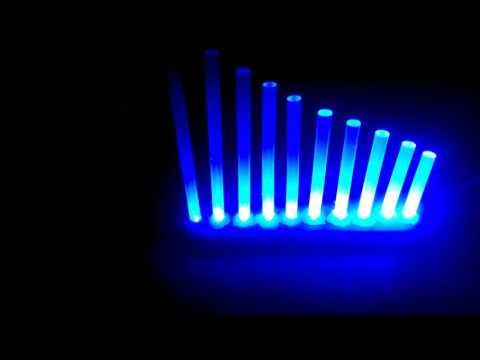 Sound Reactive Hot Glue Lamp (VU Meter, Arduino) (1)
