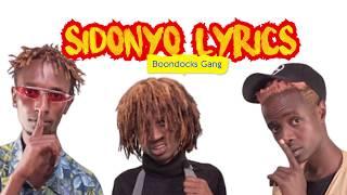 Boondocks Gang - Sidonyo lyrics