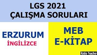 2021 LGS ERZURUM İNGİLİZCE ÇALIŞMA SORULARI ÇÖZÜMÜLGS İNGİLİZCE 2021