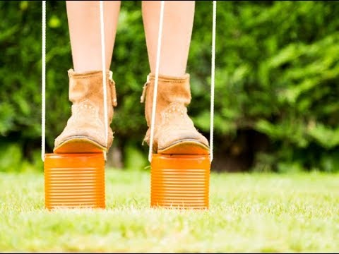 How to Make Walking Stilts - Walking Stilts Racing – Games for parties