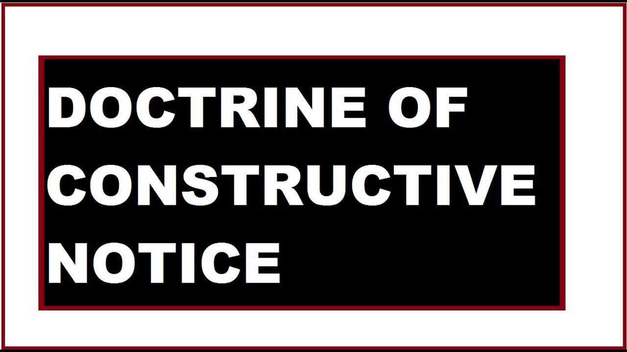 what is doctrine of constructive notice