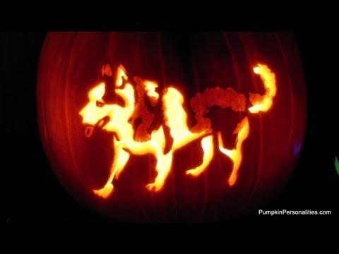 carve a siberian husky pumpkin pattern stencil how to jack o lantern youtube. Black Bedroom Furniture Sets. Home Design Ideas
