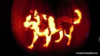 Carve a Siberian Husky Pumpkin Pattern Stencil How to Jack-o-lantern