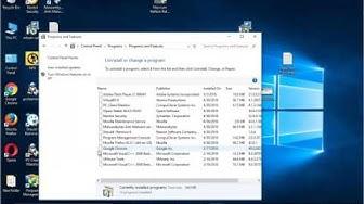 Uninstall Adobe Flash Player 21 on Windows 10