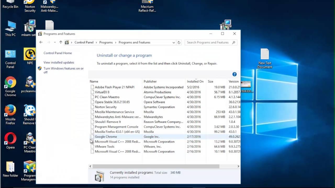 Uninstall Adobe Flash Player 21 on Windows 10 - YouTube