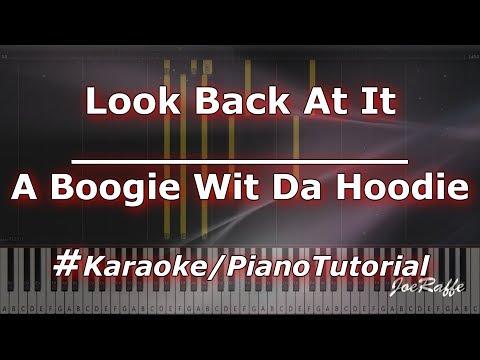 A Boogie wit da Hoodie - Look Back At It KaraokePianoTutorialInstrumental