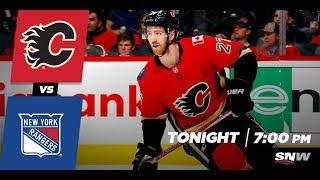 NHL 18 PS4. REGULAR SEASON 2017-2018: New York RANGERS VS Calgary FLAMES. 03.02.2018. (NBCSN) !