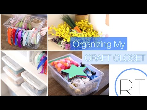 How I Organize My Craft Supplies & DIY Projects