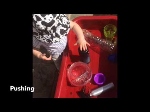 Water play activity for toddlers