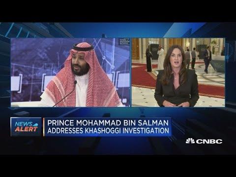 Saudi crown prince addresses Khashoggi investigation at FII conference