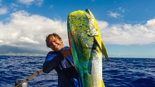Quick Draw - Spearing Mahi-Mahi from moving boat