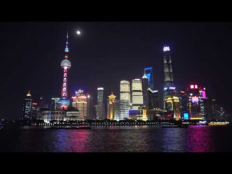 balade en Chine, le 51 : Shanghaï, le Bund by night december 2017
