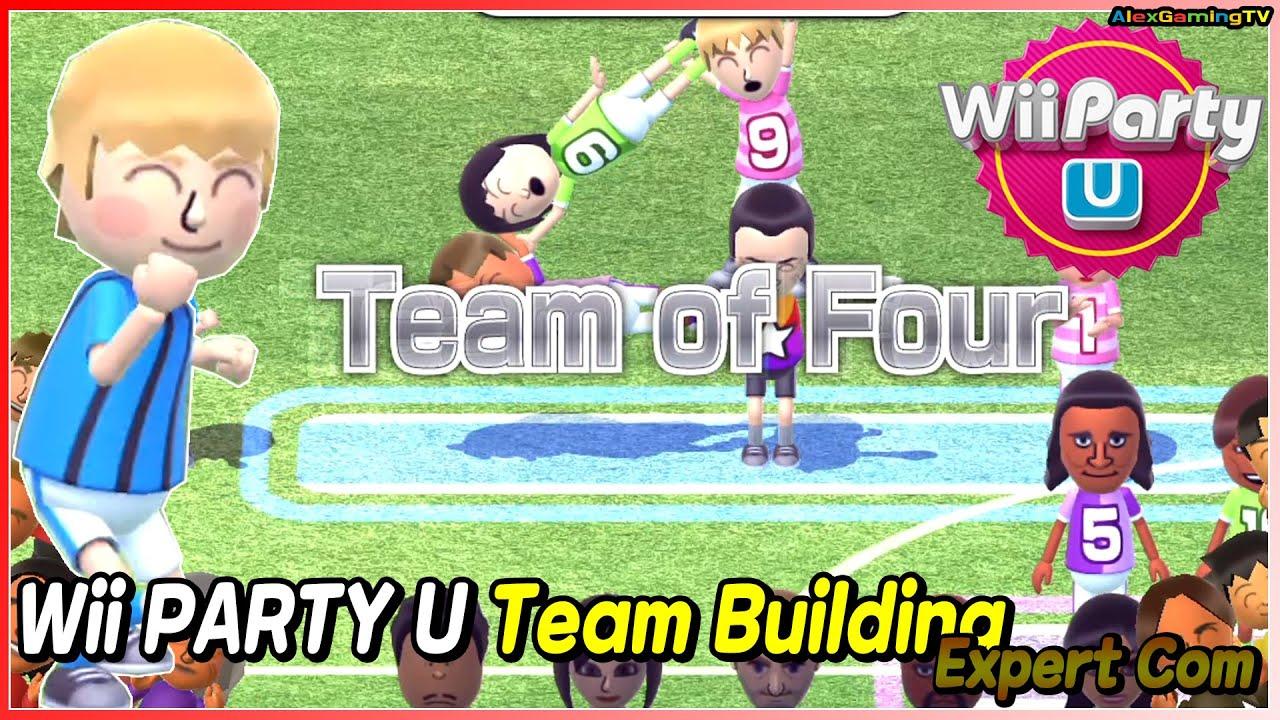 Wii Party U - Team Building (Expert com) ? Pavel vs Giulia vs Steven vs Marie | AlexGamingTV