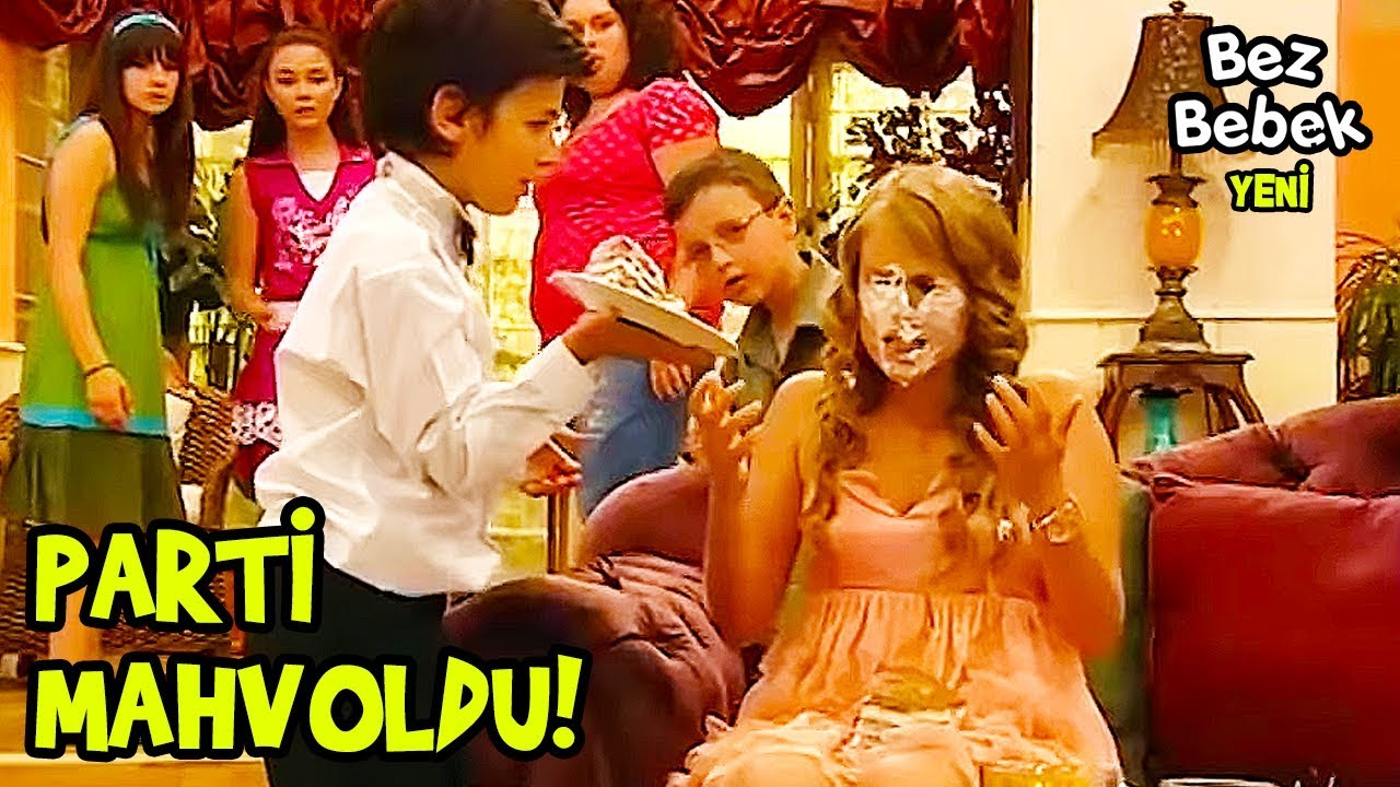Emre, Petek'in Yüzüne Pasta Yapıştırdı   Bez Bebek Eğlenceli Videolar