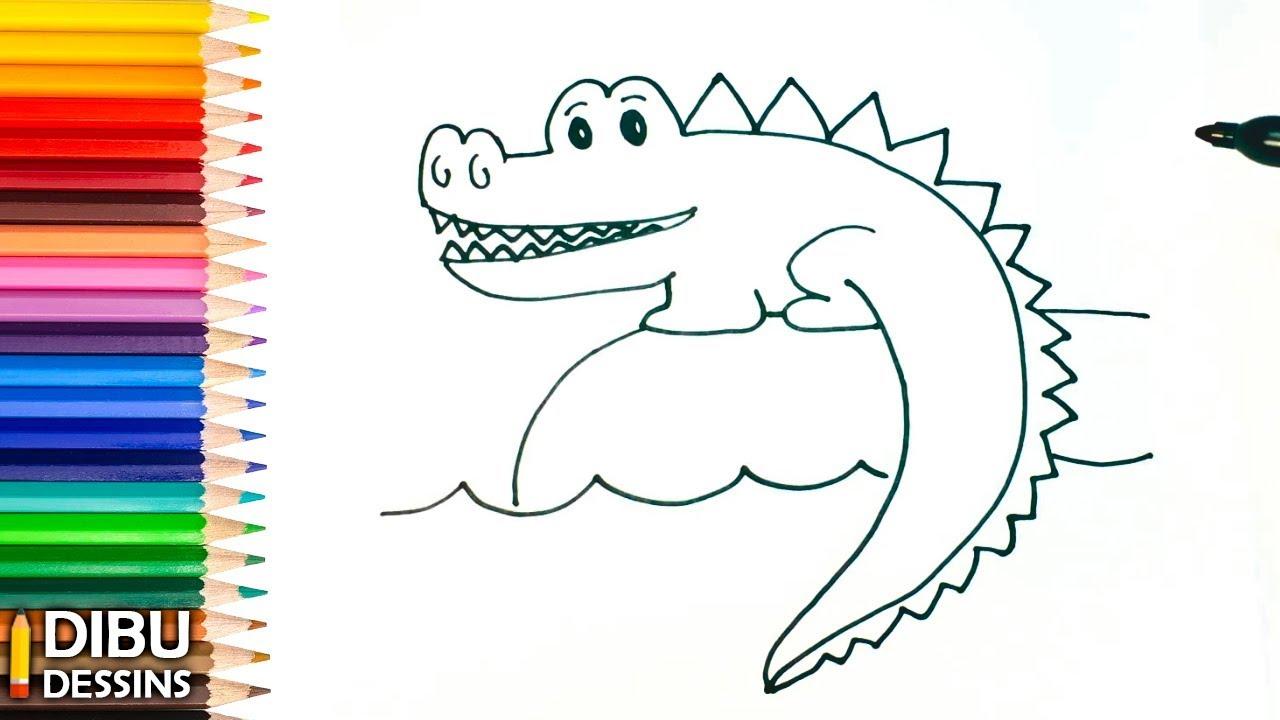 Comment Dessiner Un Crocodile Etape Par Etape Youtube