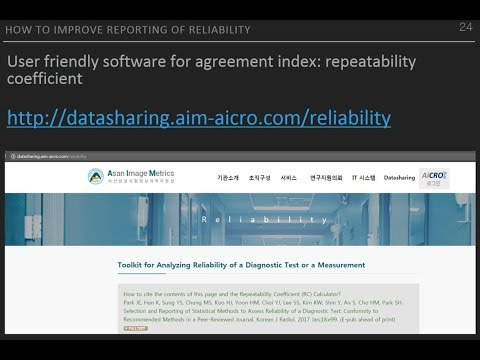 [Listen to Authors] Selection and Reporting of Statistical Methods to Analyze Reliability