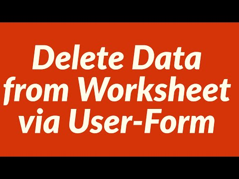 Delete Data from Excel Worksheet Database via a User Form