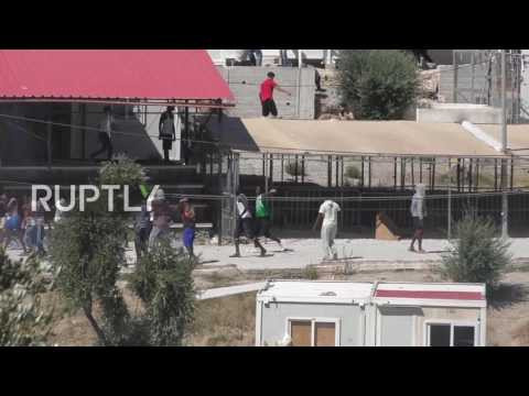 Greece: Huge fire breaks out in Lesbos refugee camp