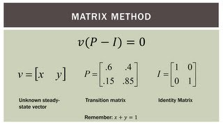 Finite Math: Markov Chain Steady-State Calculation