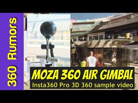 Santa Monica Place & Third Street Promenade - 3D 360 video with Insta360 Pro and Moza Air 360 gimbal