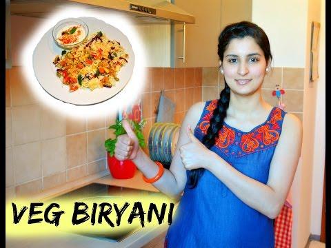Vegetarisch Biryani – Reis mit gemischten Gemüse - indisch Kochen