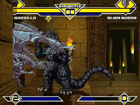 TKs Random Mugen Battle 1026 King Godzilla VS Alien