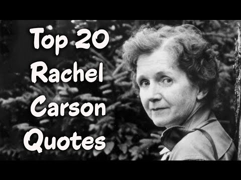 Top 60 Rachel Carson Quotes Author Of Silent Spring YouTube Mesmerizing Rachel Carson Quotes