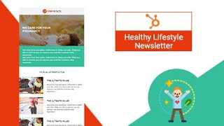 Healthy lifestyle newsletter email template | hubspot marketplace trooinbound