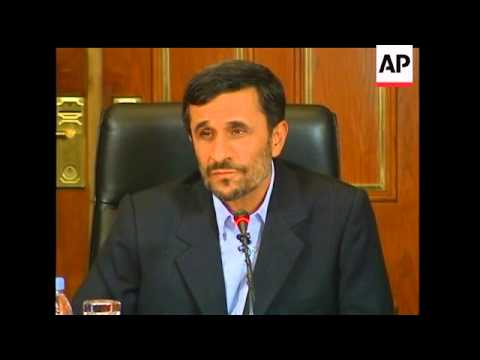In an AP interview Tuesday, Iranian President Mahmoud Ahmadinejad urged President Barack Obama to se