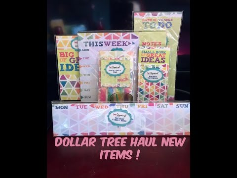 Dollar Tree Haul Awesome Finds New Weekly  Planner & More!! HAPPY MOTHERS DAY  May 14 2017