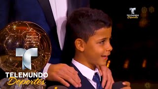 Lo que dijo Cristiano tras recibir el Balón de Oro | Más Fútbol | Telemundo Deportes